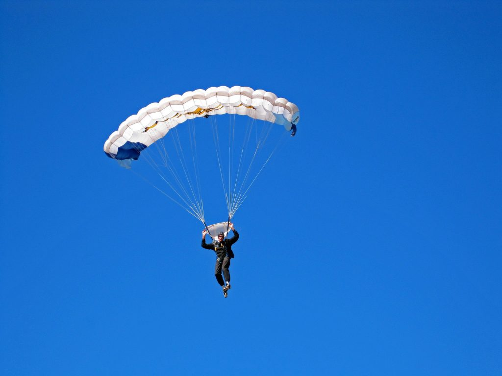 may is learn to skydive month